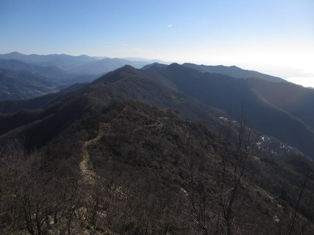 Vista dal monte Pegge verso il Santuario