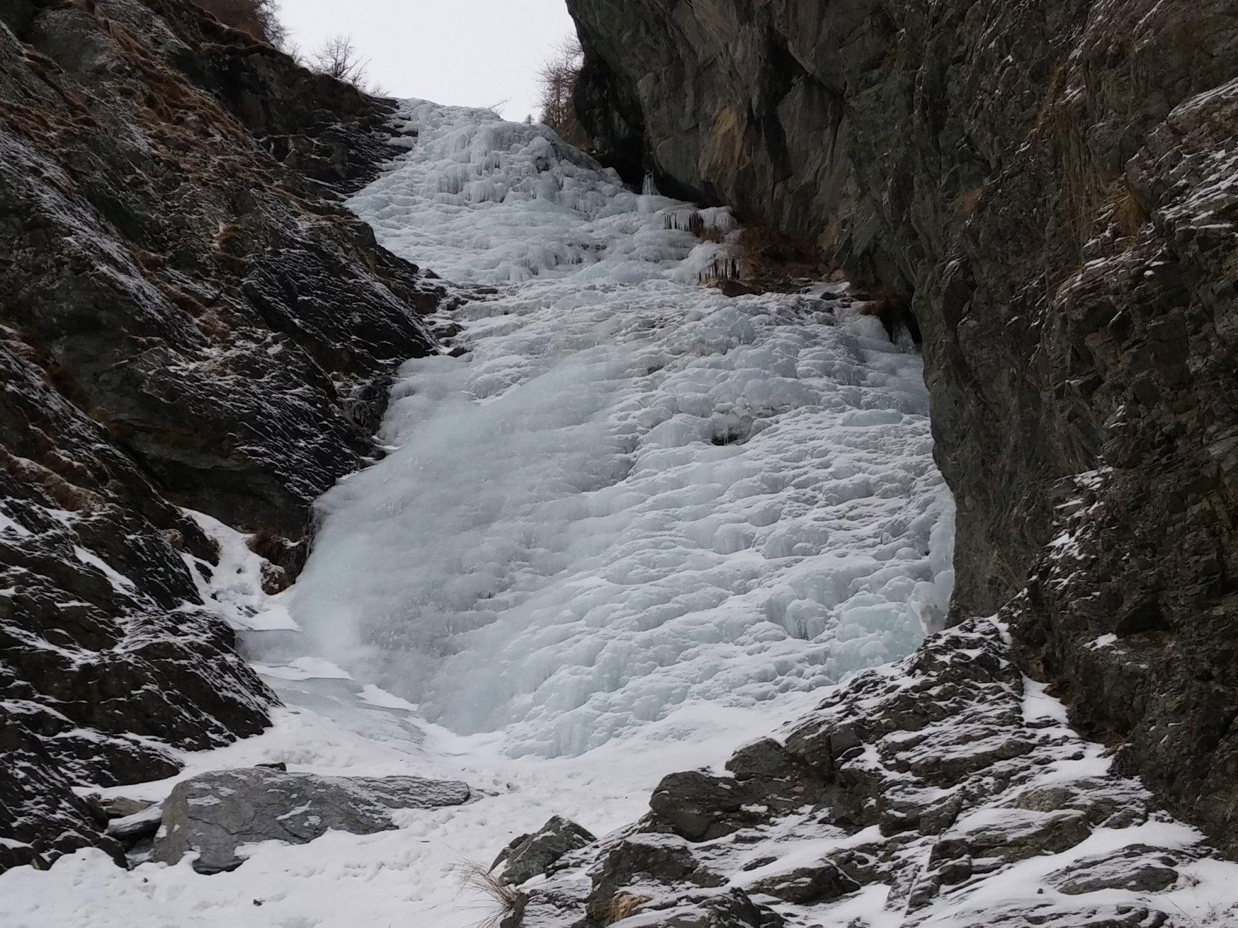 La cascata di Pian dei morti Val Pellice