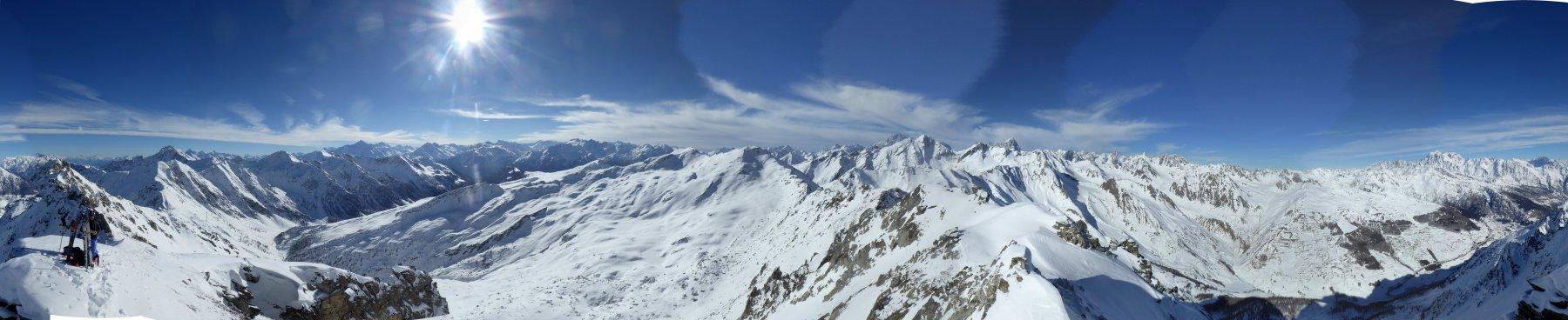 Panorama 360° dalla vetta