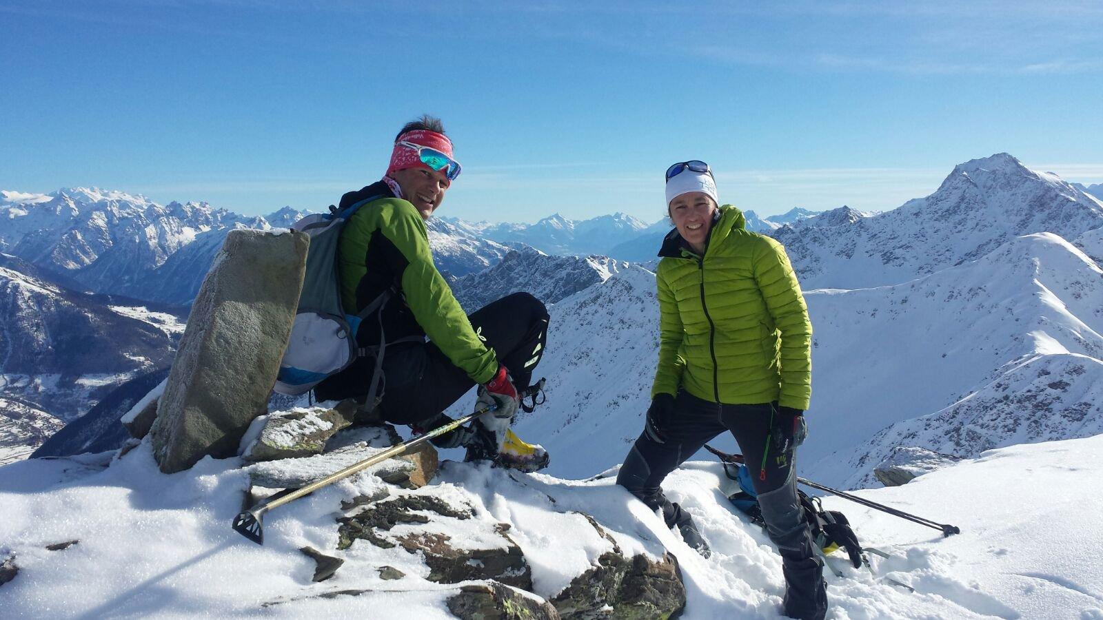 Io e Andrea in cima alla valletta