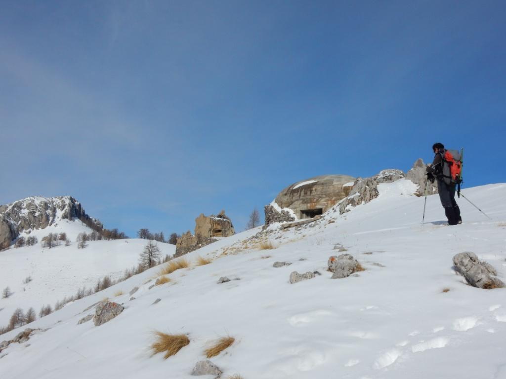 Enzo in cima alla Roca Cuna