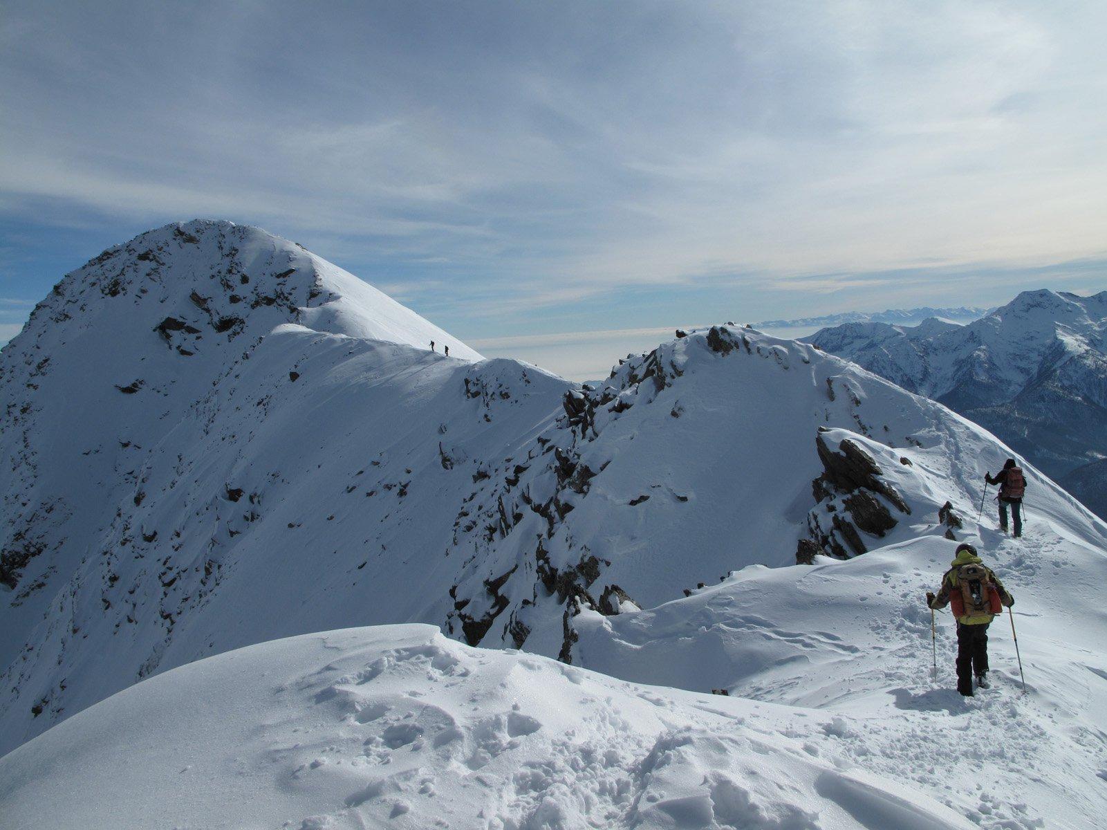 La cresta alpinistica finale