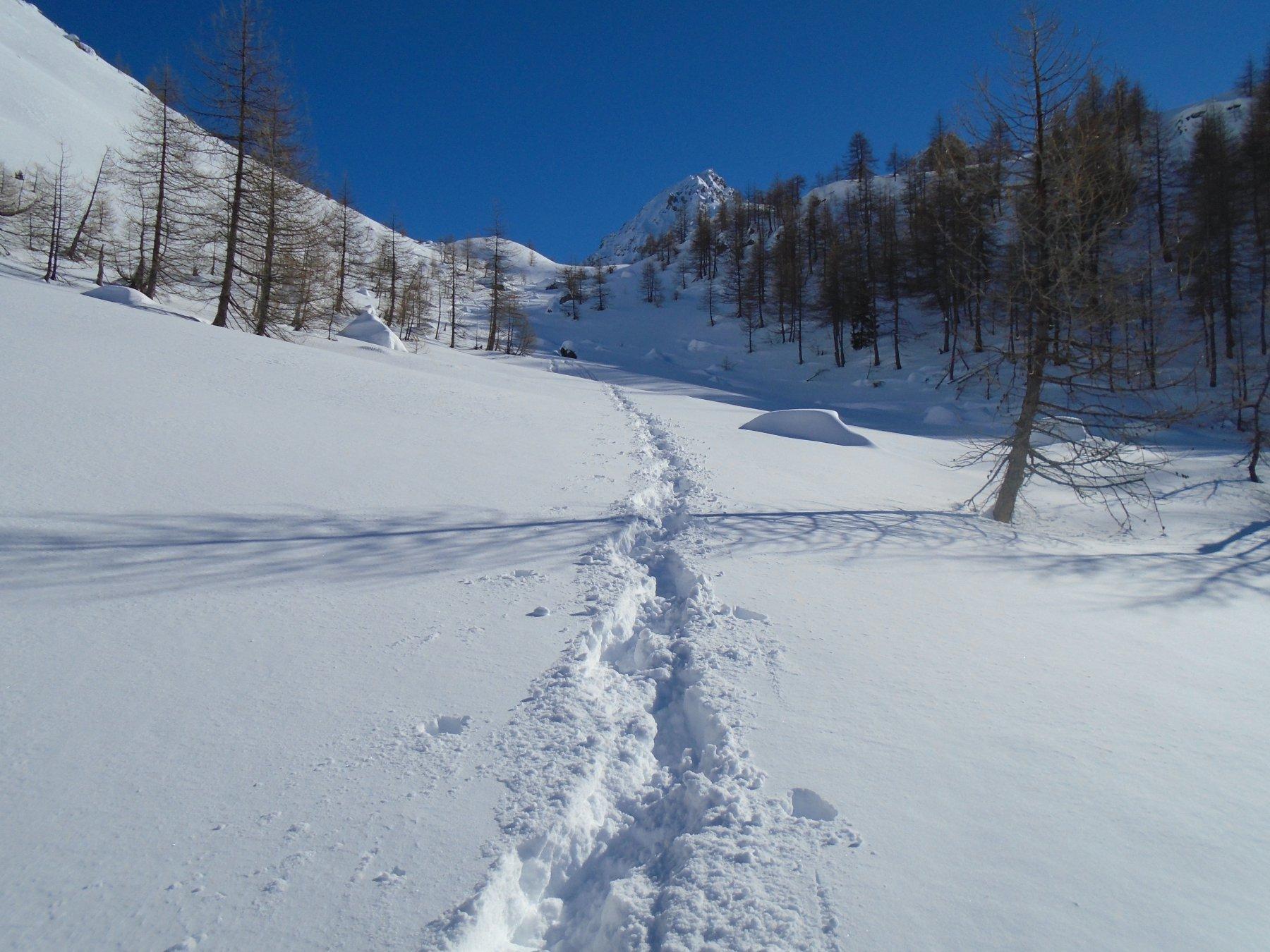 Nel vallonetto tanta neve (circa 2100m)