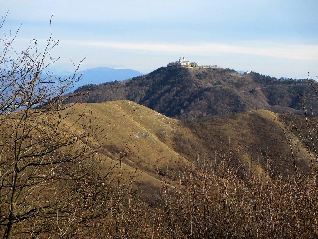 Santuario Madonna della Guardia,in primo piano il M.de Torbi