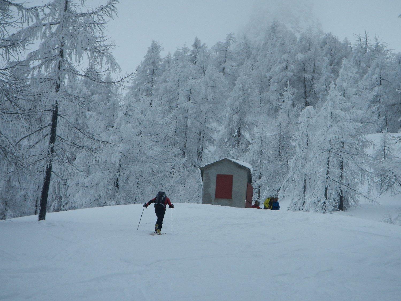 il vecchio gabbiotto dello skilift