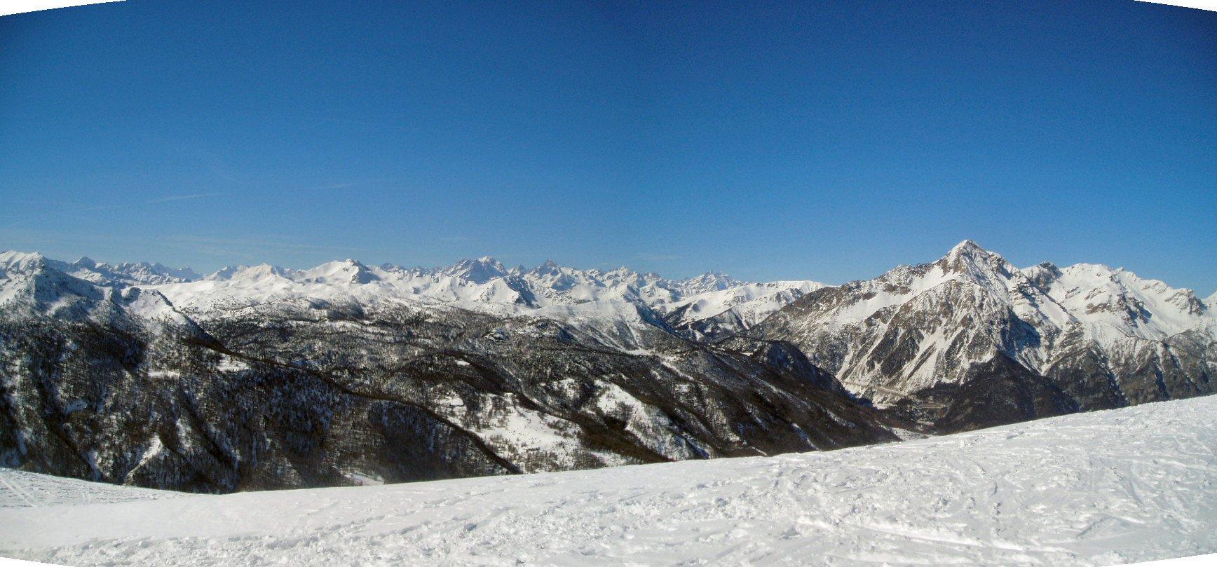 Panorama sul Delfinato e Chaberton