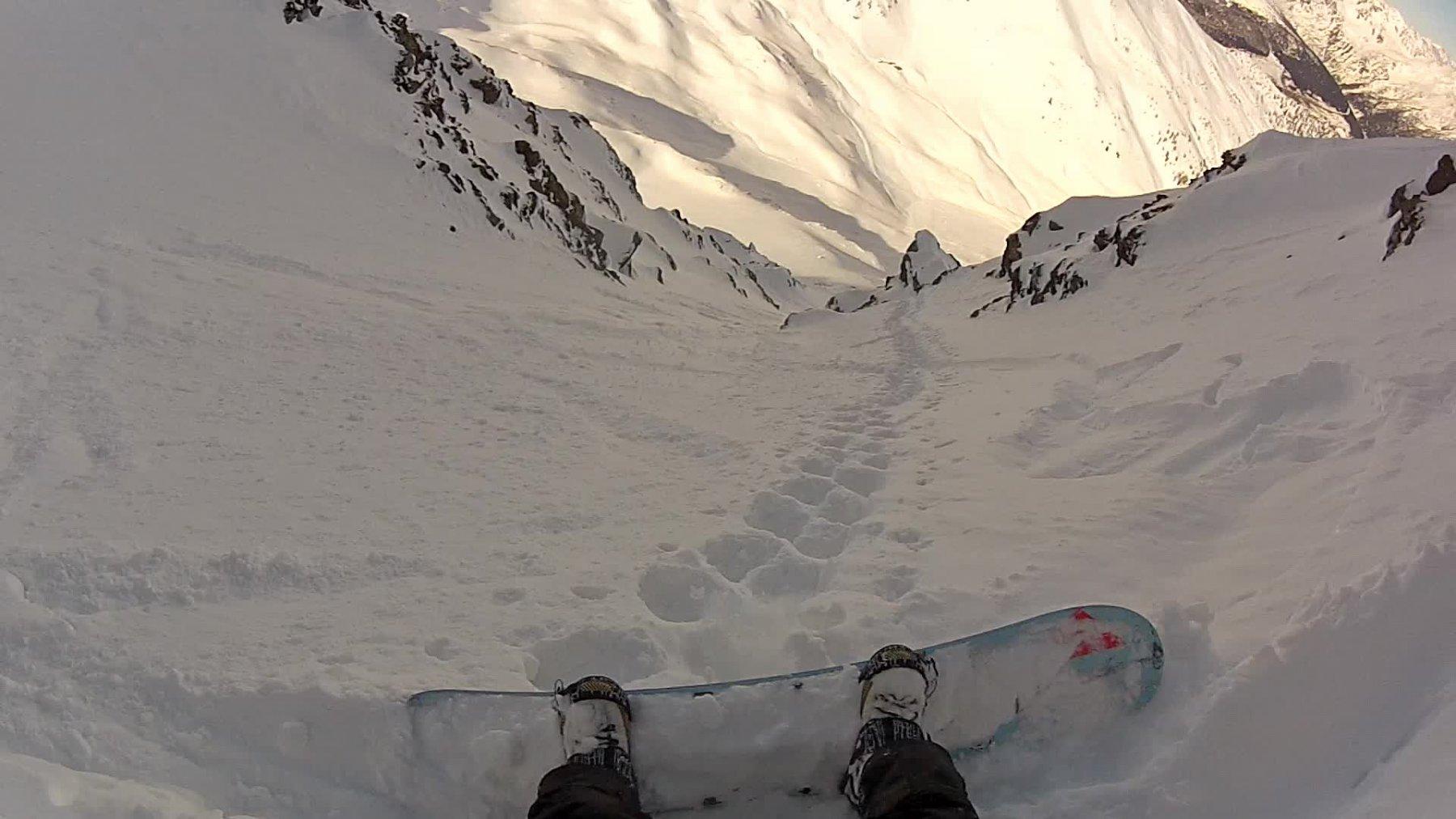 Fallére (Mont) spalla 2973 m Canale NO 2017-02-18