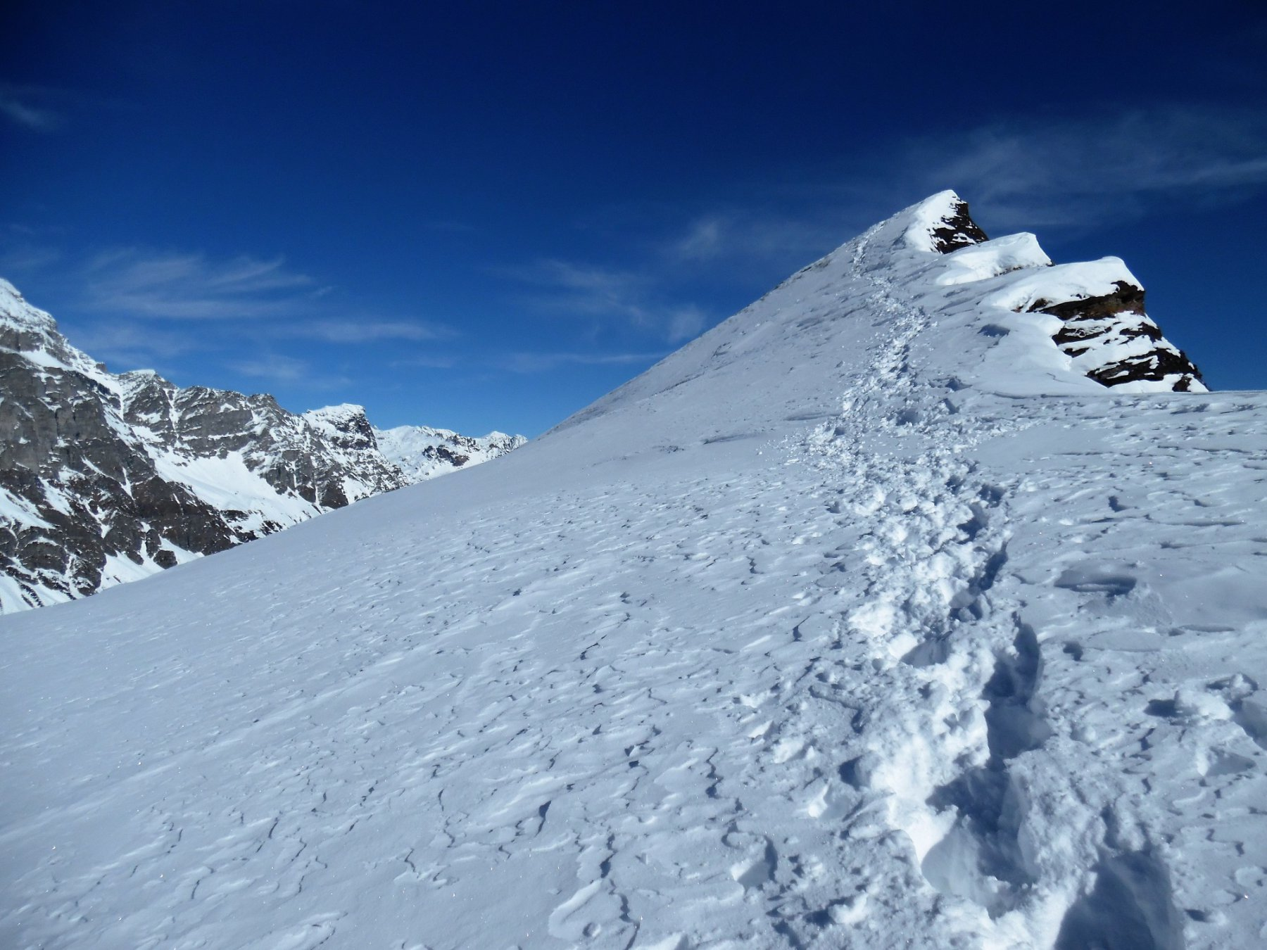 Ultimi metri della Punta d'Orogna