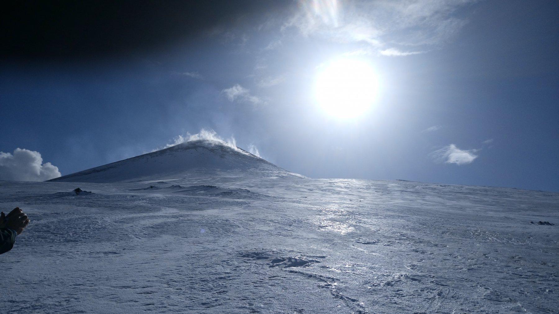 Il vulcano in baciato dal ☀