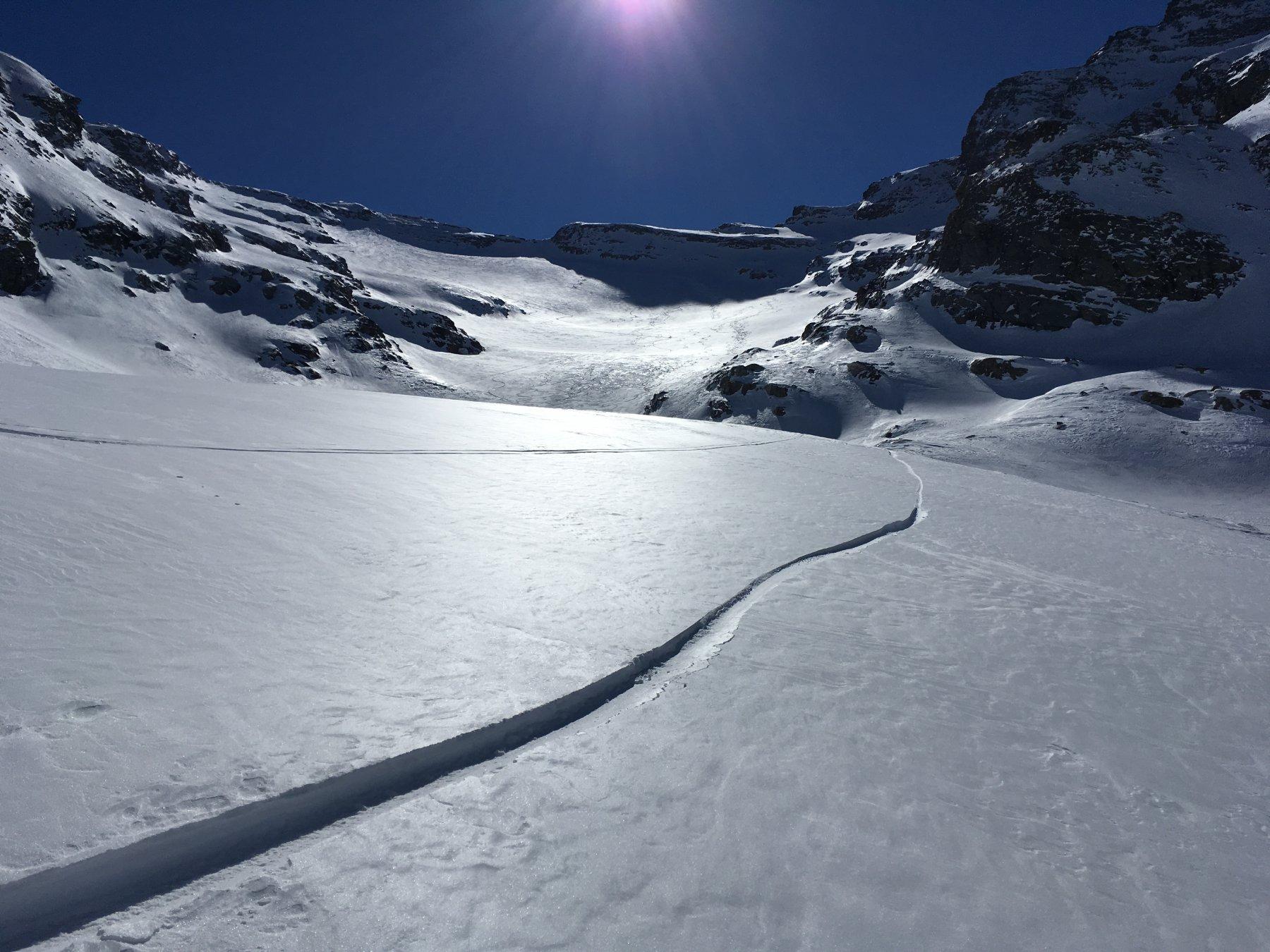 traccia di snowboard