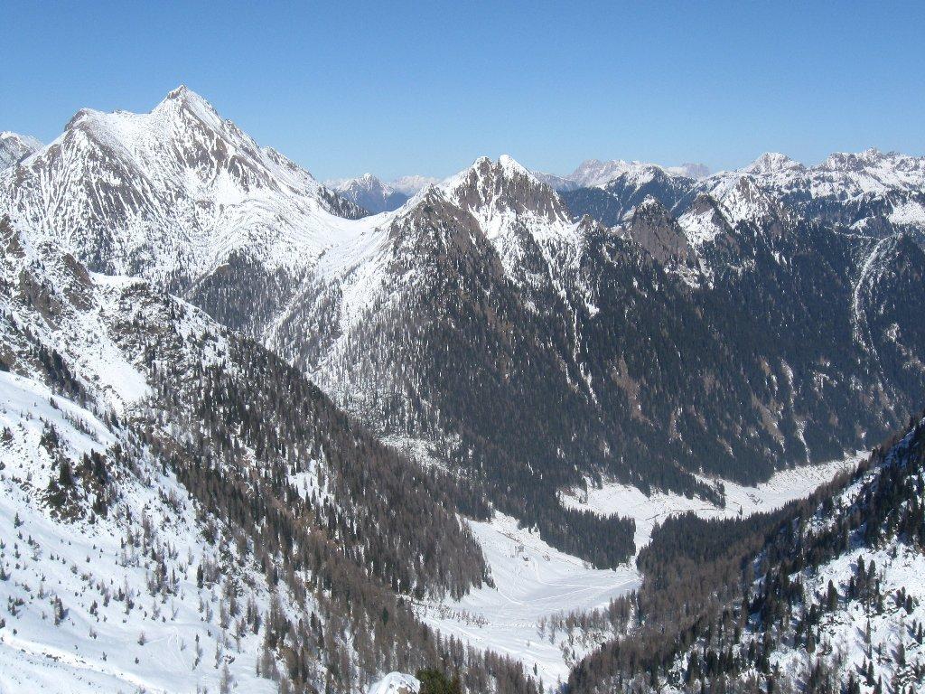 verso il Monte Croce e la Malga Cagnon di Sotto