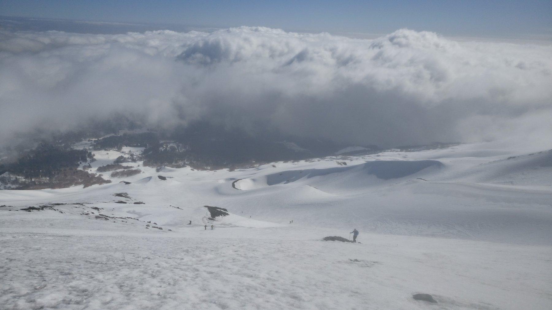 Le solite nebbie che salgono dal fondo valle