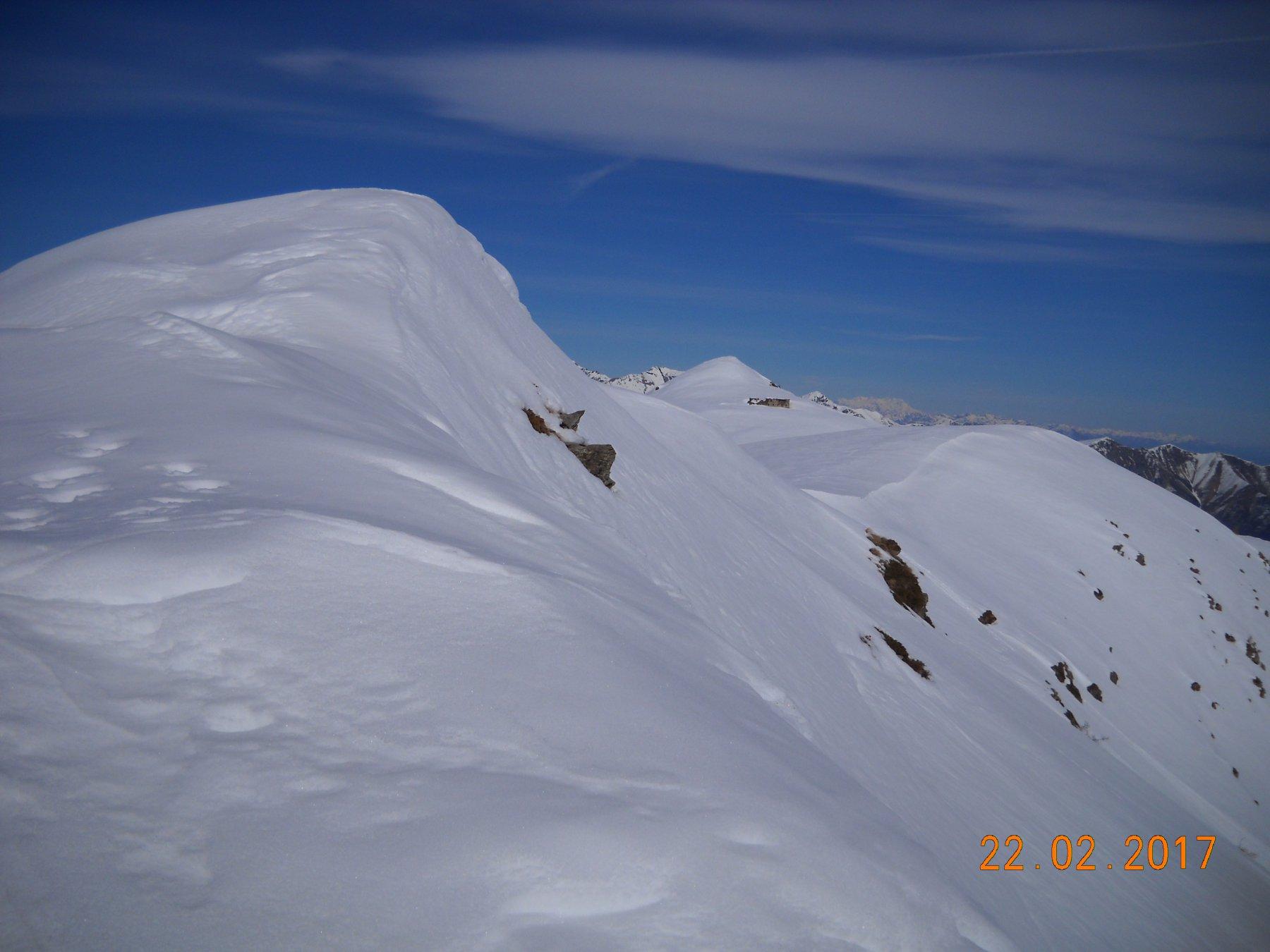 La cresta e Rocca Bianca in fondo