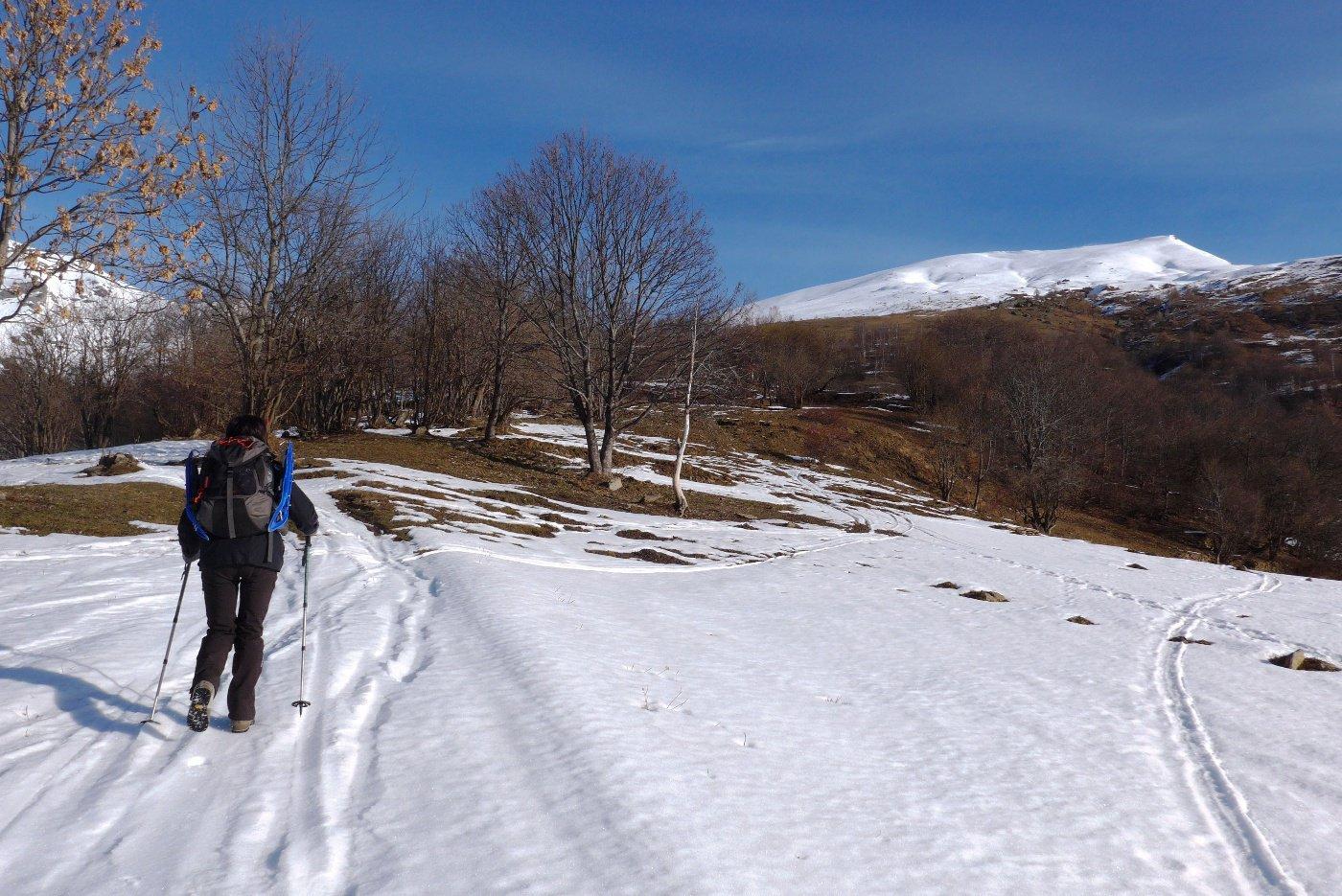 Alla partenza da Brich. Neve davvero poca