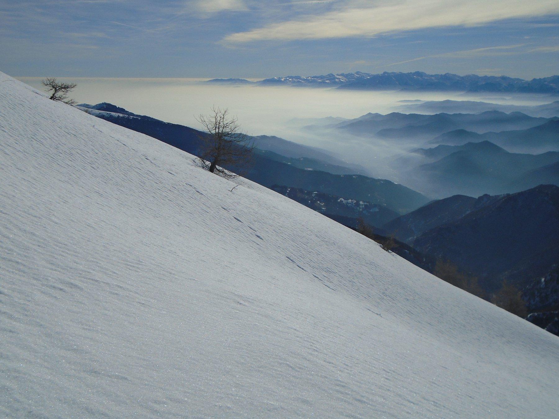 Pendenza e nebbie basse