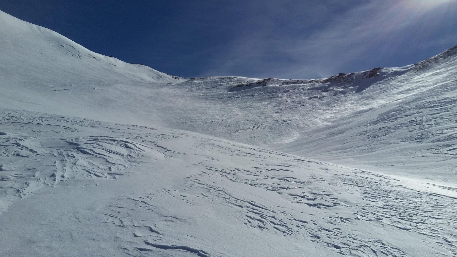 stato della neve sotto la punta