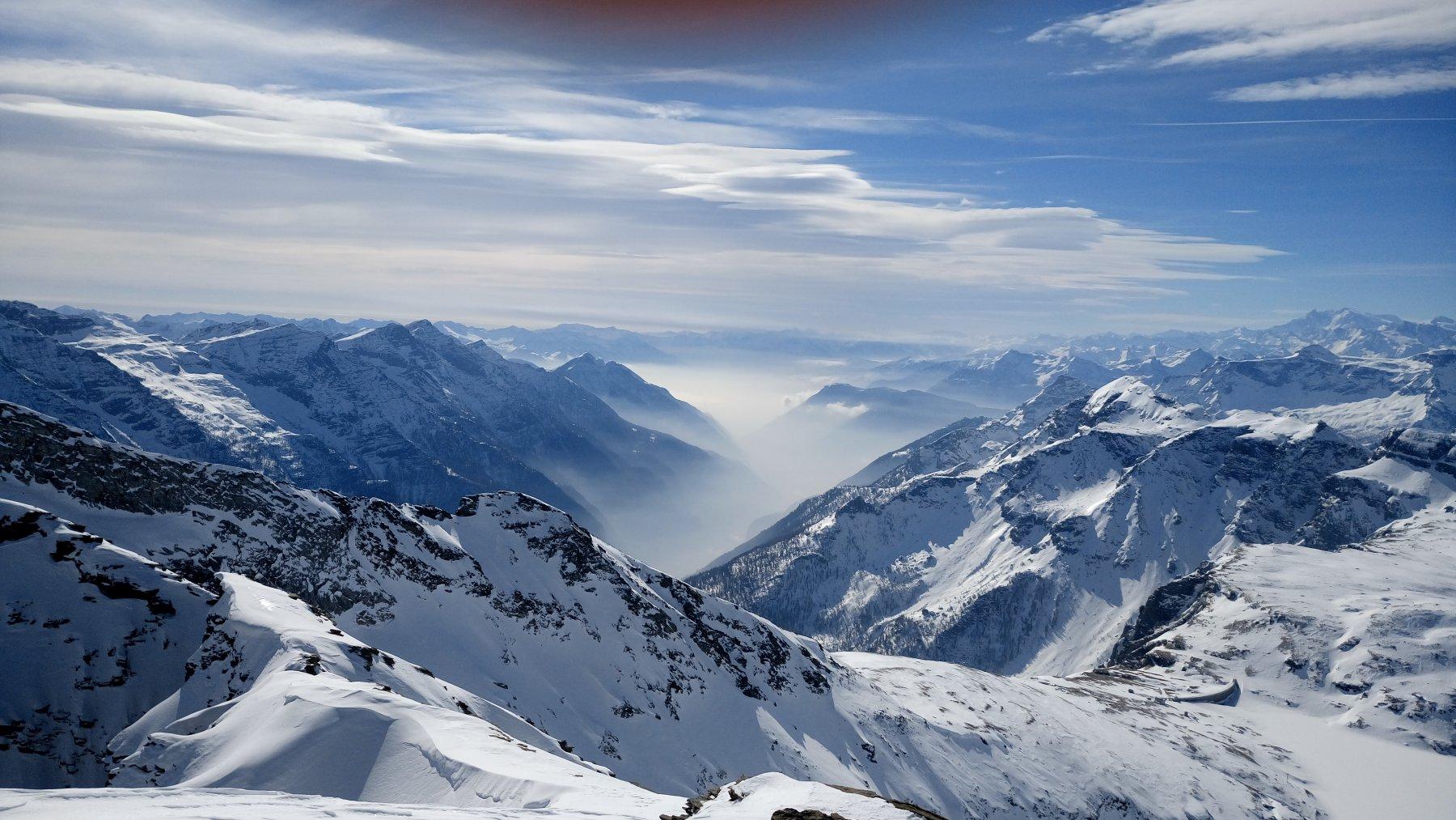 Dalla cima guardando a valle