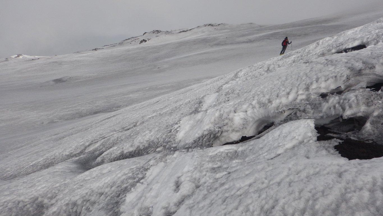 Ultimo traverso sulla colata del 2015 del cratere Centrale