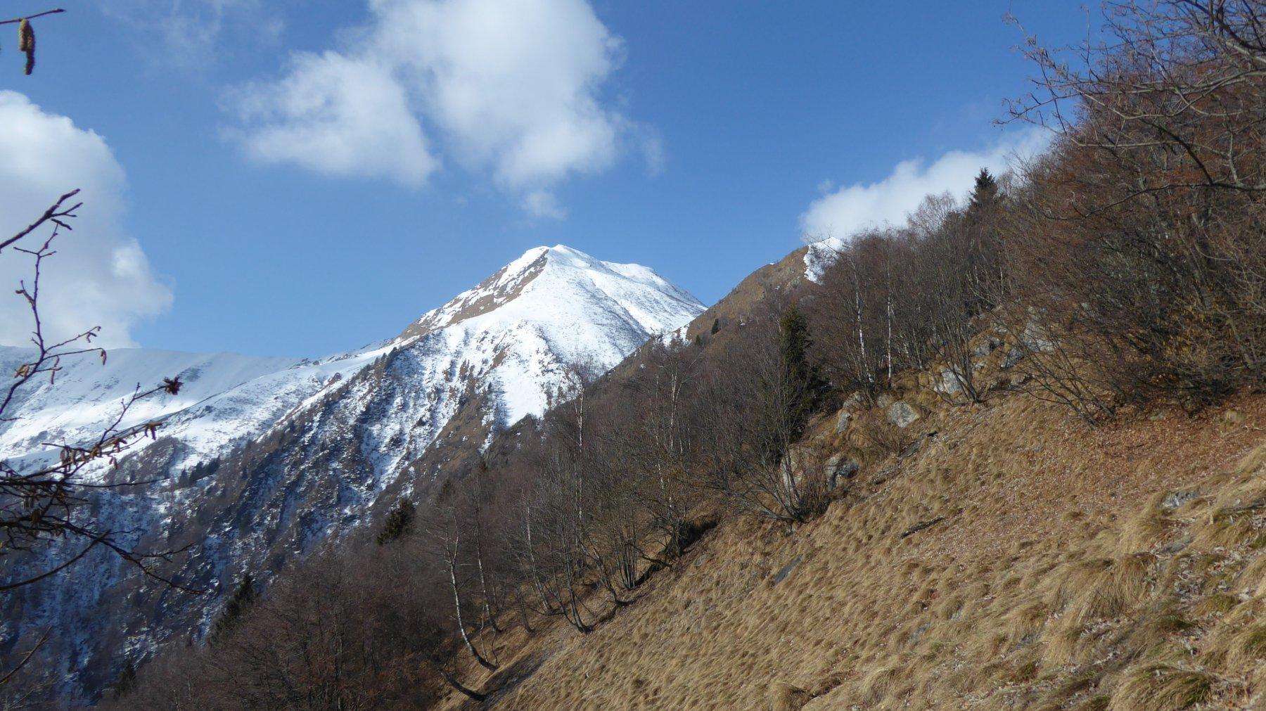 Dalla dorsale, Cima Rosta e a destra Punta del Sionei