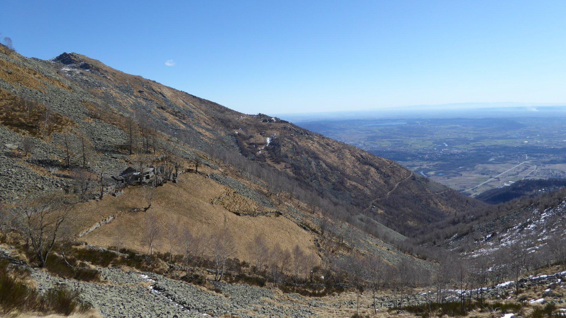 Alpe Bitogno di Vico, Le Colme e la Pianura
