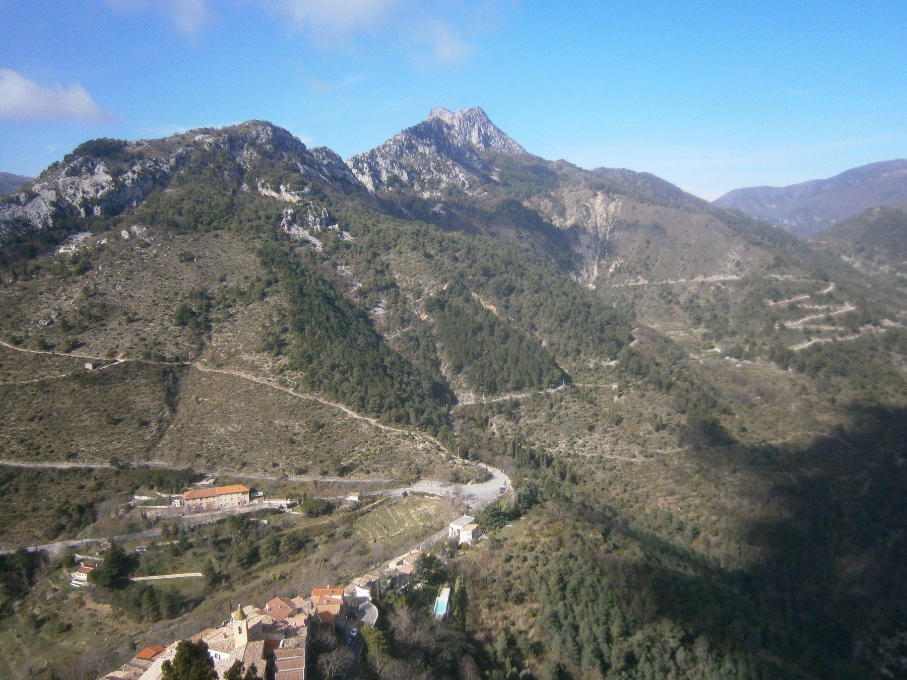 Pic de Baudon dalla rocca di st.Agnes