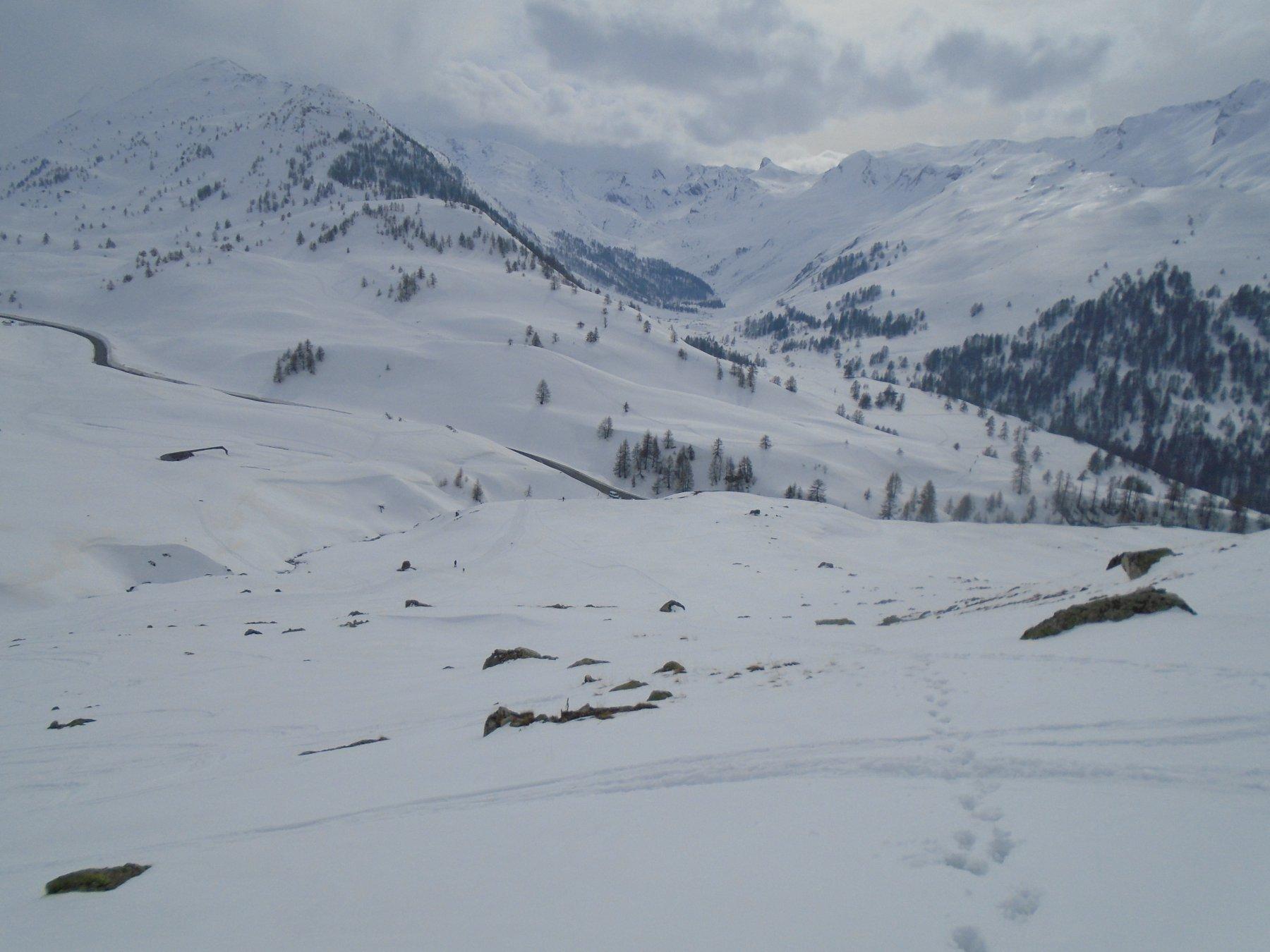 Fine gita: poca neve sopra Le Pontet