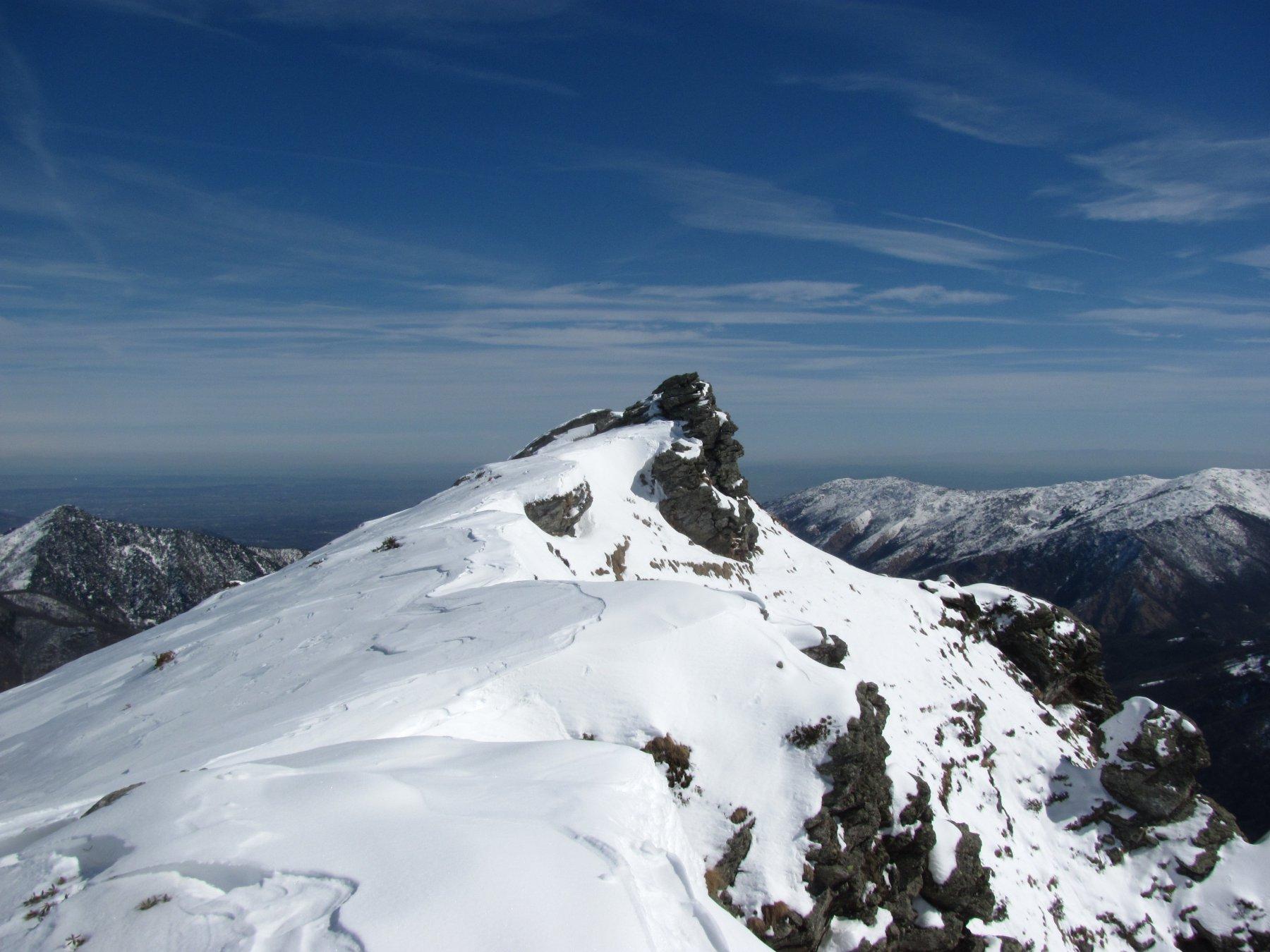 la cima del Monte Ciarm, m. 1865