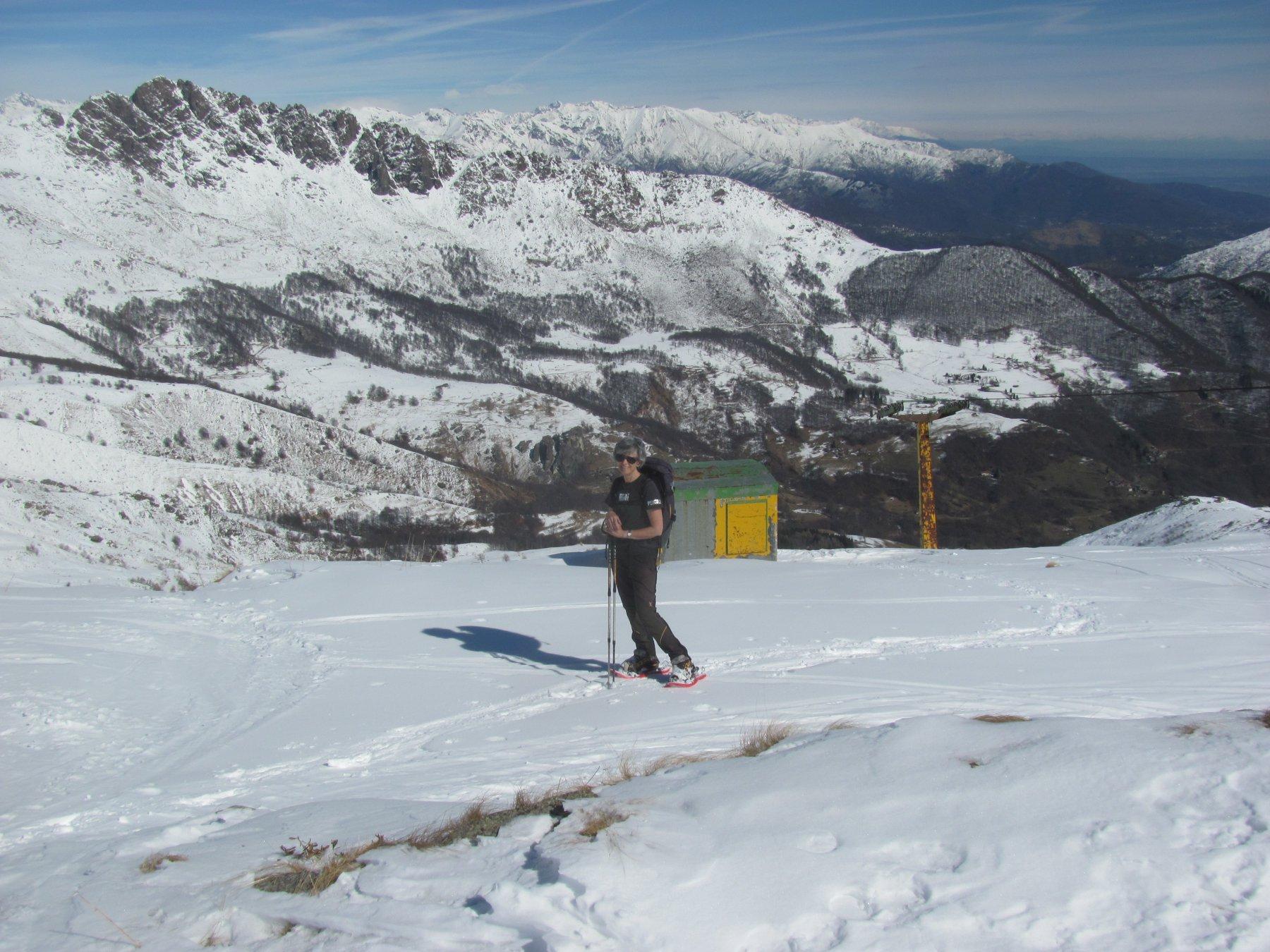 sopra l'arrivo del vecchio skilift