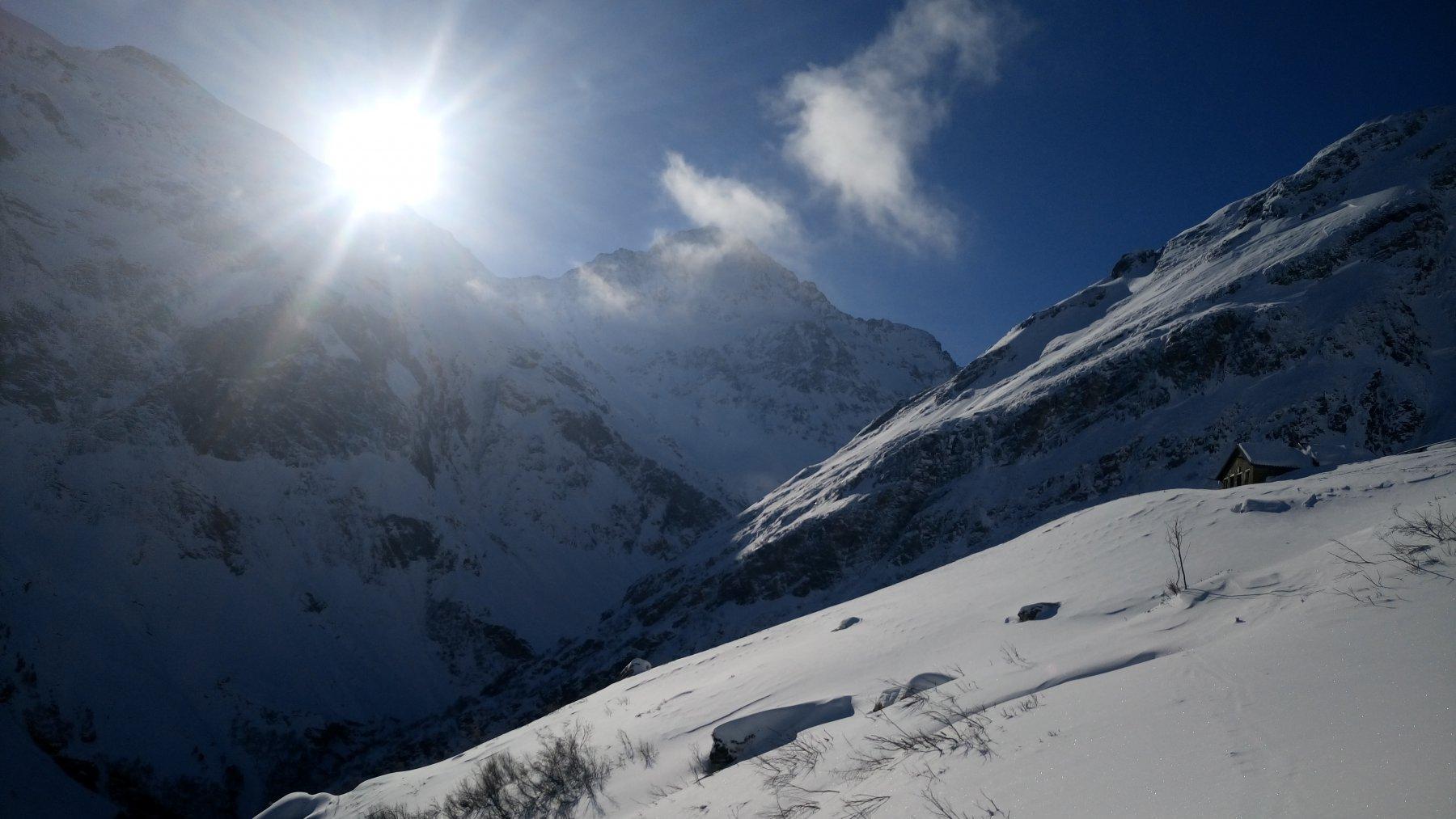 Vista sulle montagne Splugen