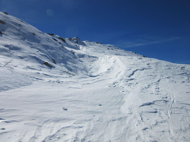 Il tratto dopo l'ultimo ski-lift