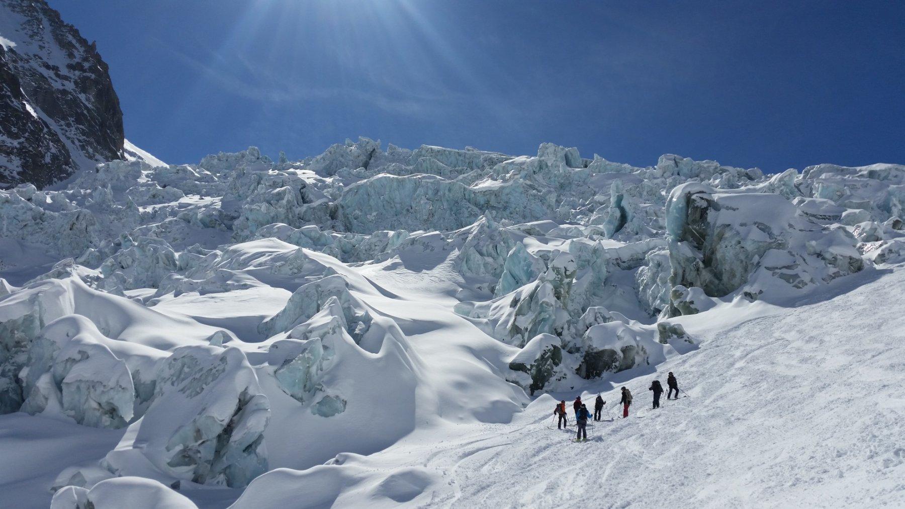 Seracchi ghiacciaio del Gigante