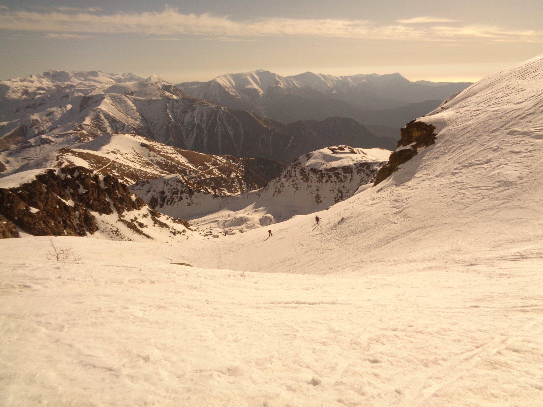 vista dalla parte alta del percorso
