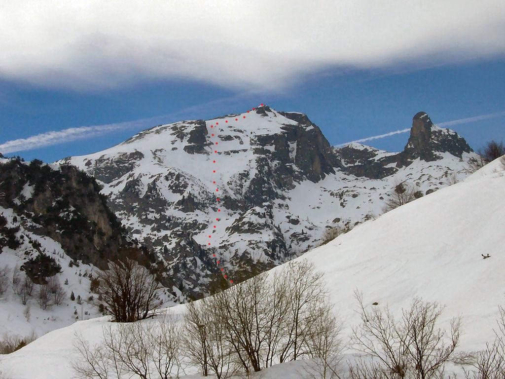 Abisso (Rocca dell') spalla 2600 m Parete NE 2008-03-17