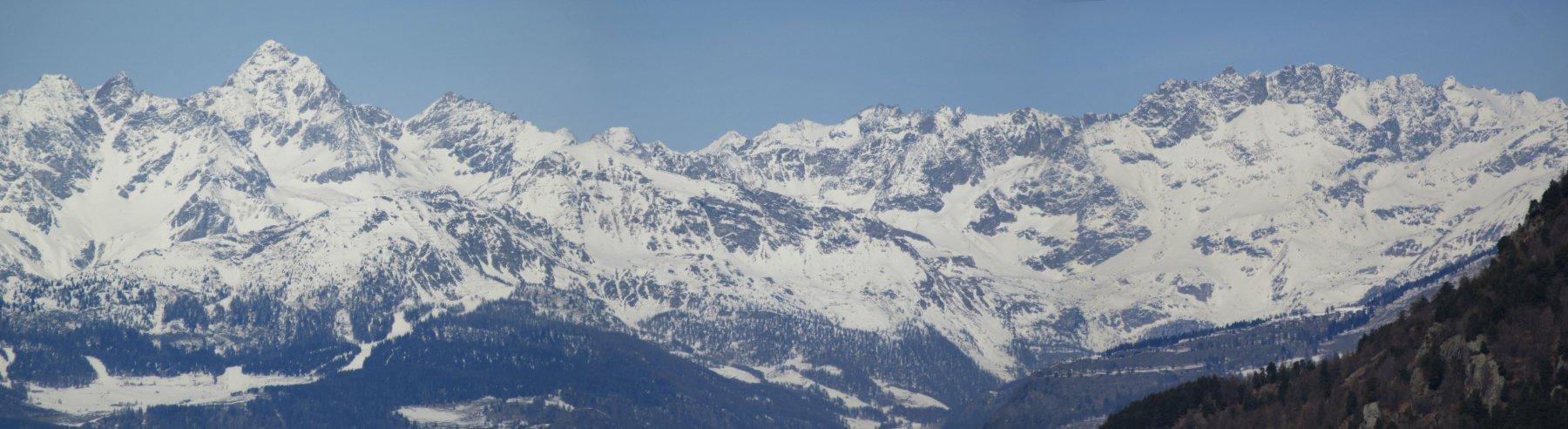 Panorama dalla vetta verso la Valtournanche