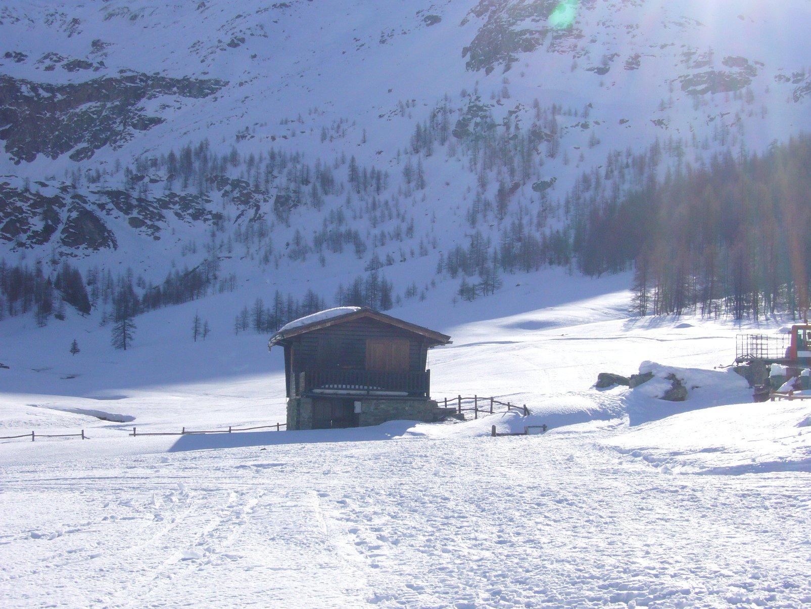condizioni della neve alla partenza
