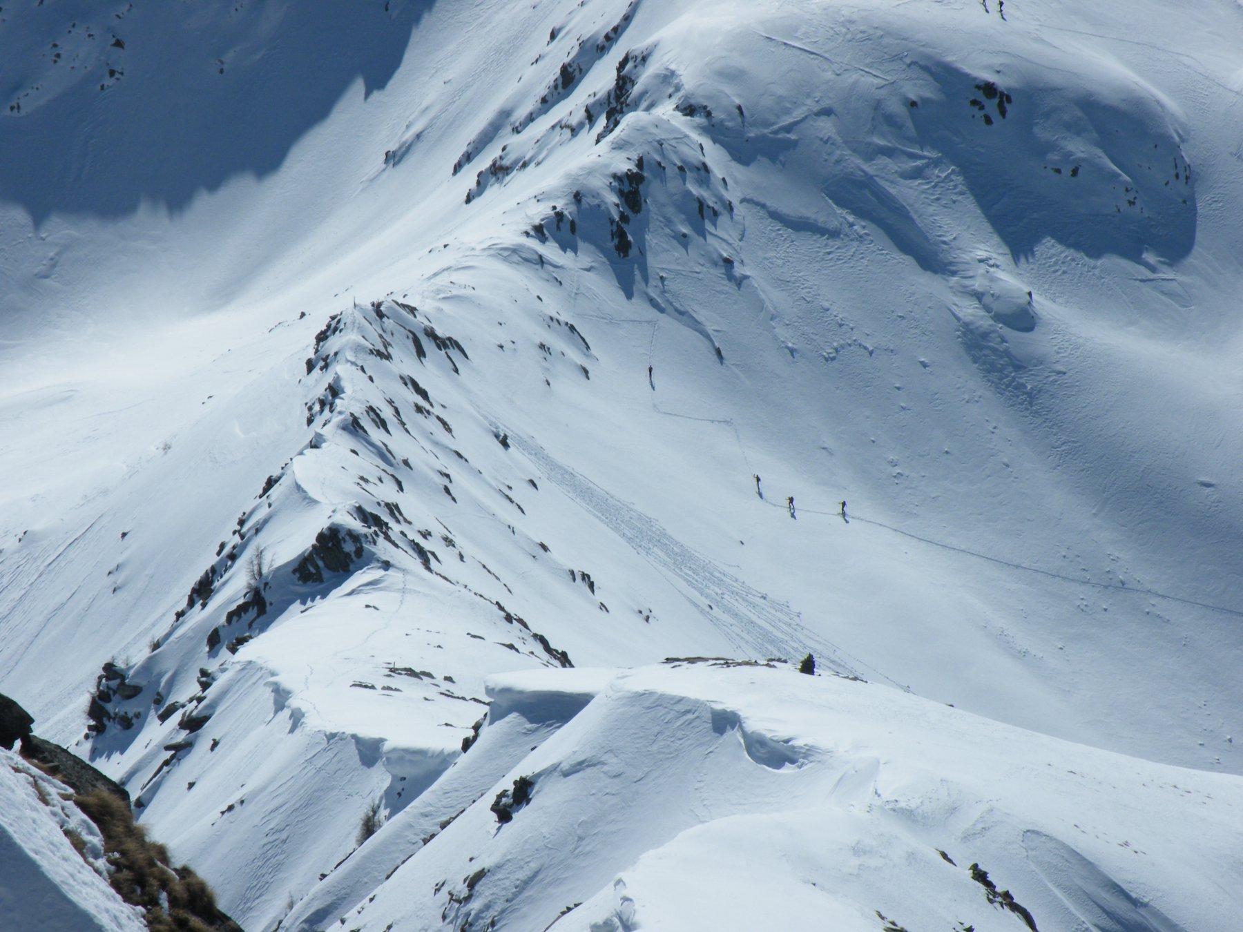 Il passo di Dordonella visto dalla cima