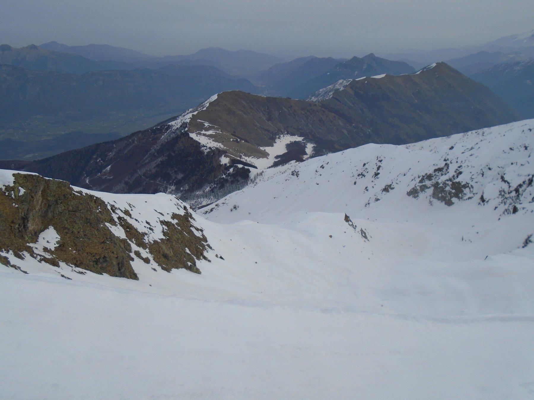 Sguardo sulla via normale di salita scialpinistica
