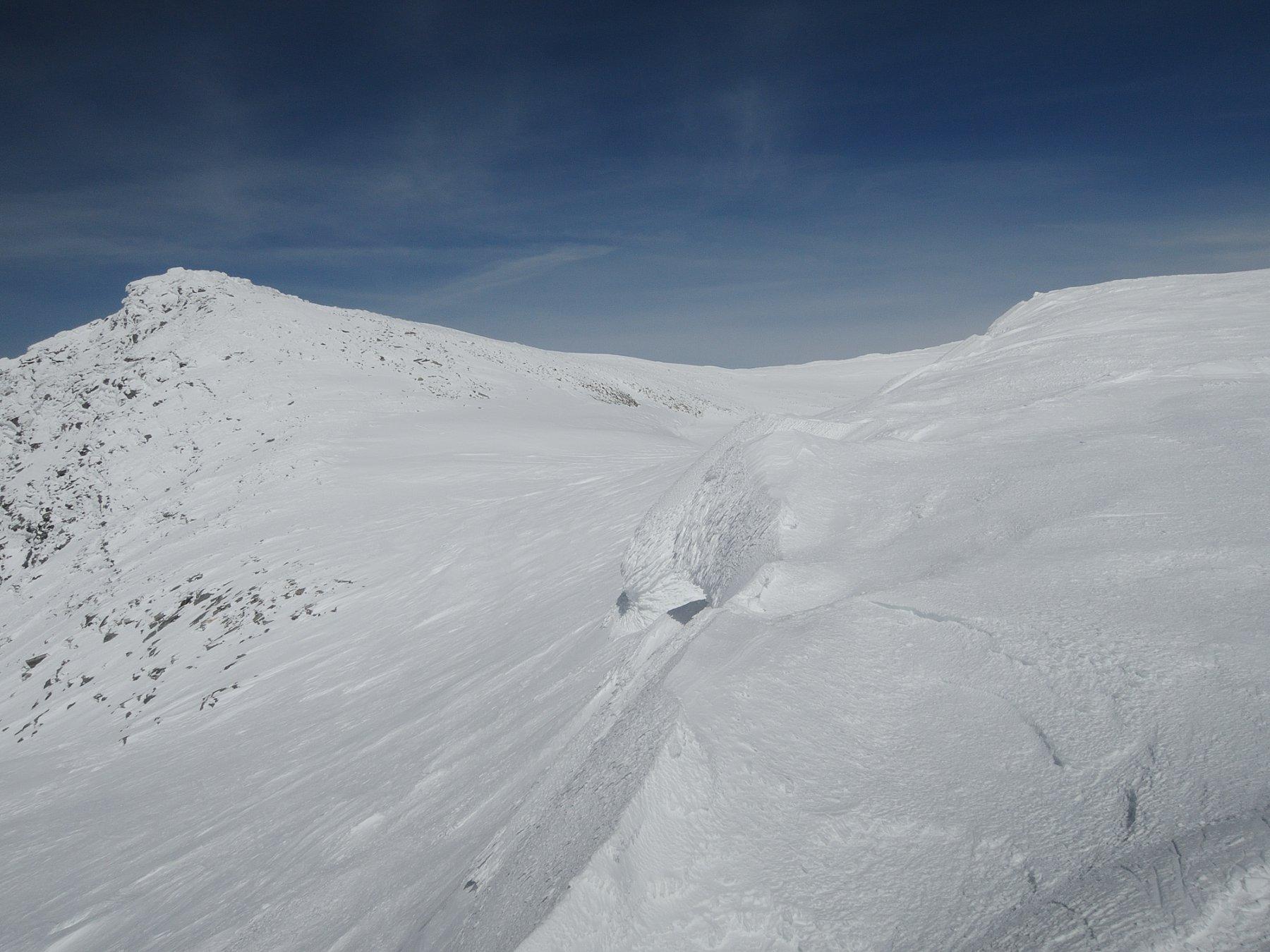 Cornice al Breithornpass vista da sopra