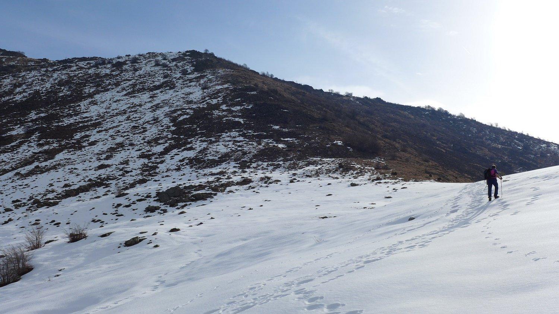 Verso il colle Lunella