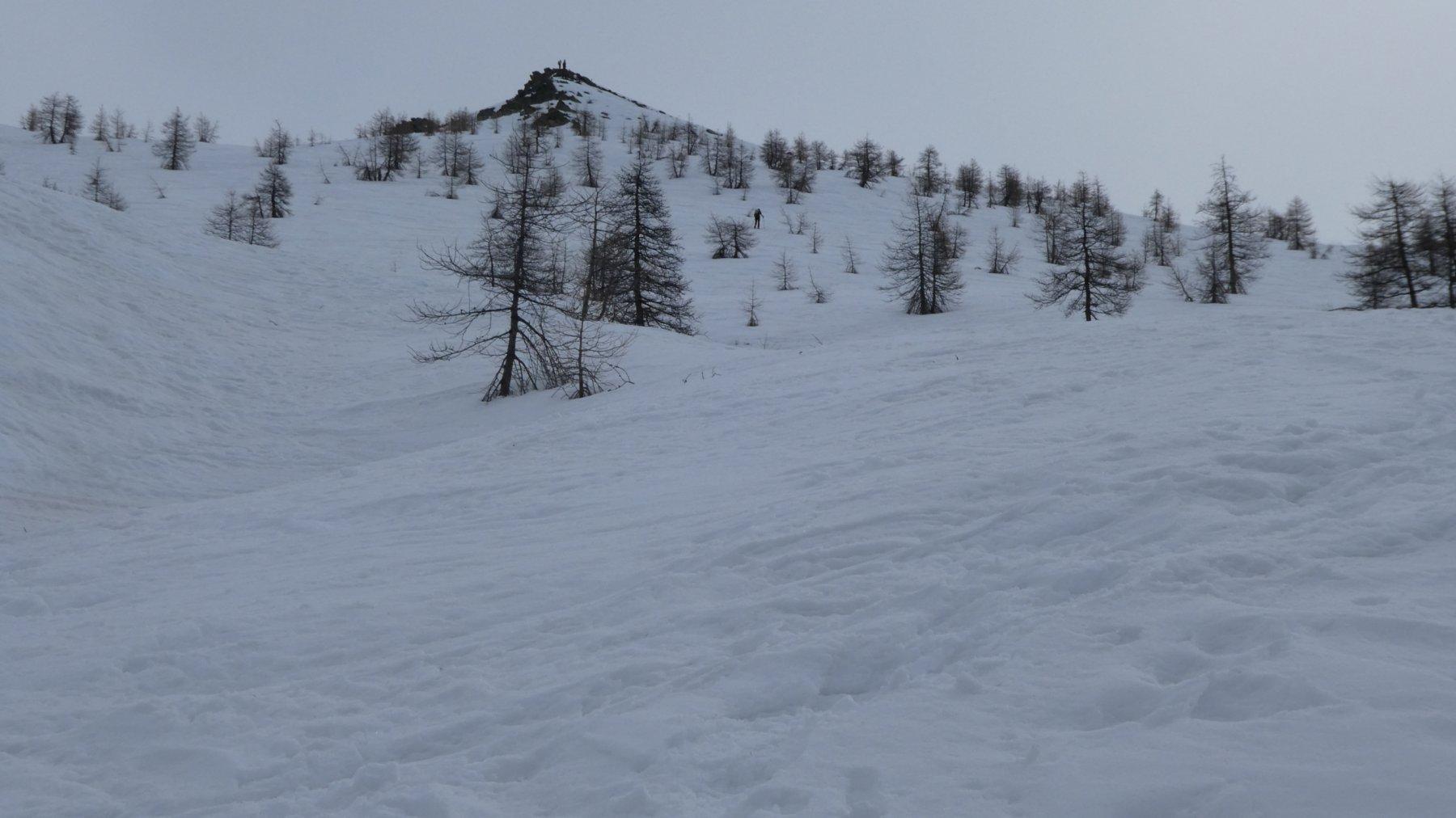 in alto spunta la nostra meta, il Monte Giobert