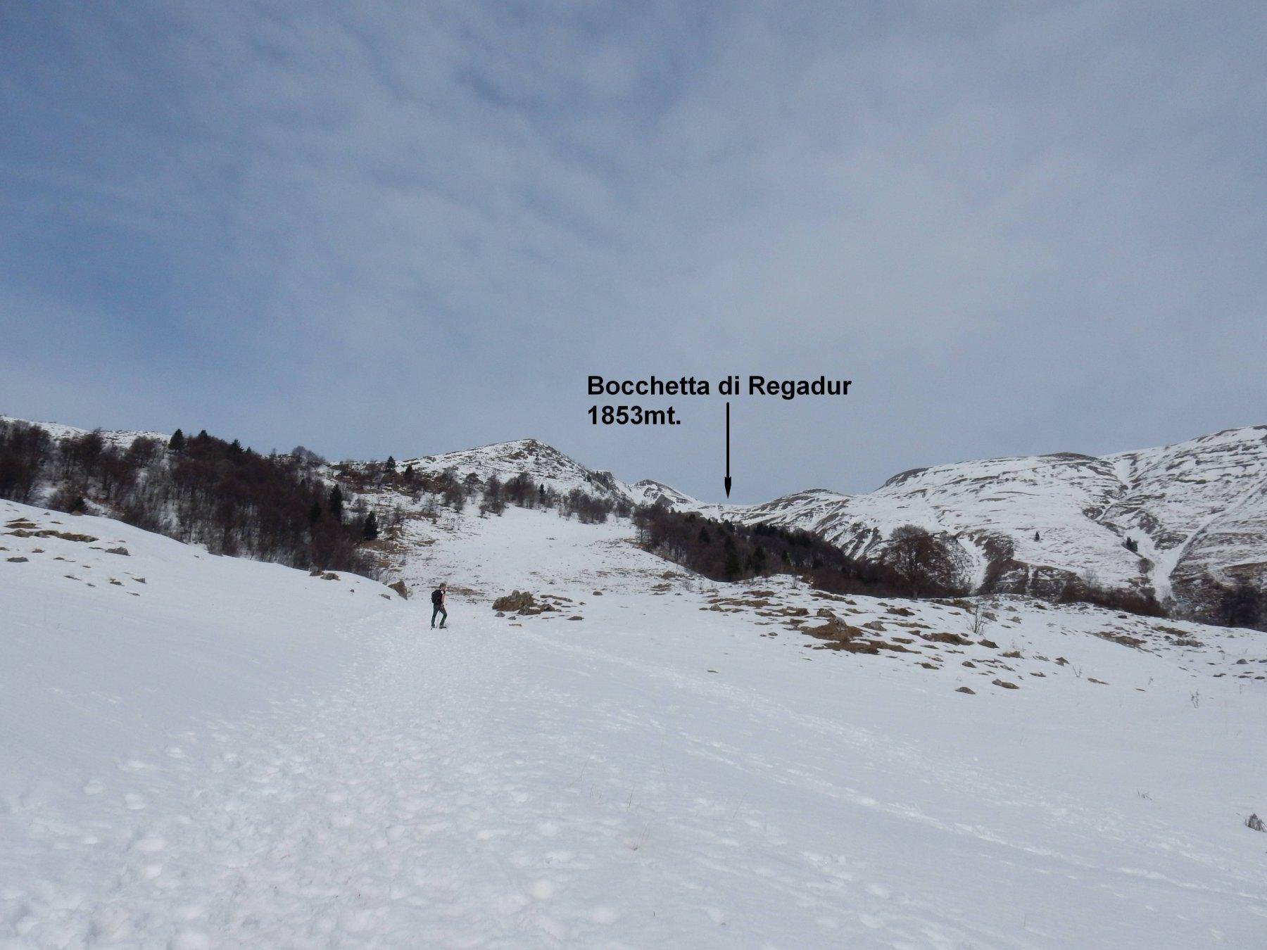 Verso la Bocchetta Regadur.
