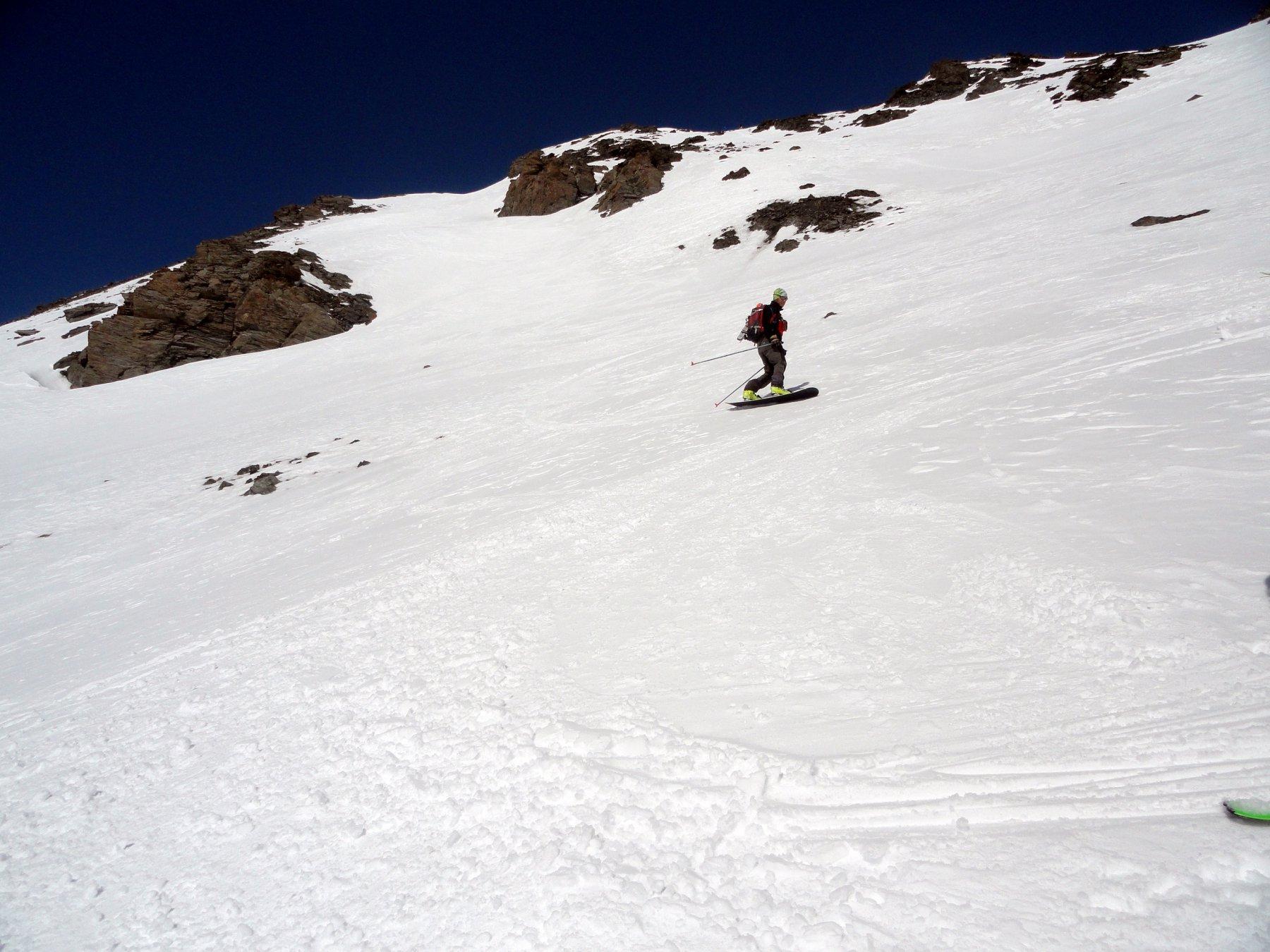 discesa in snowboard per Gianca
