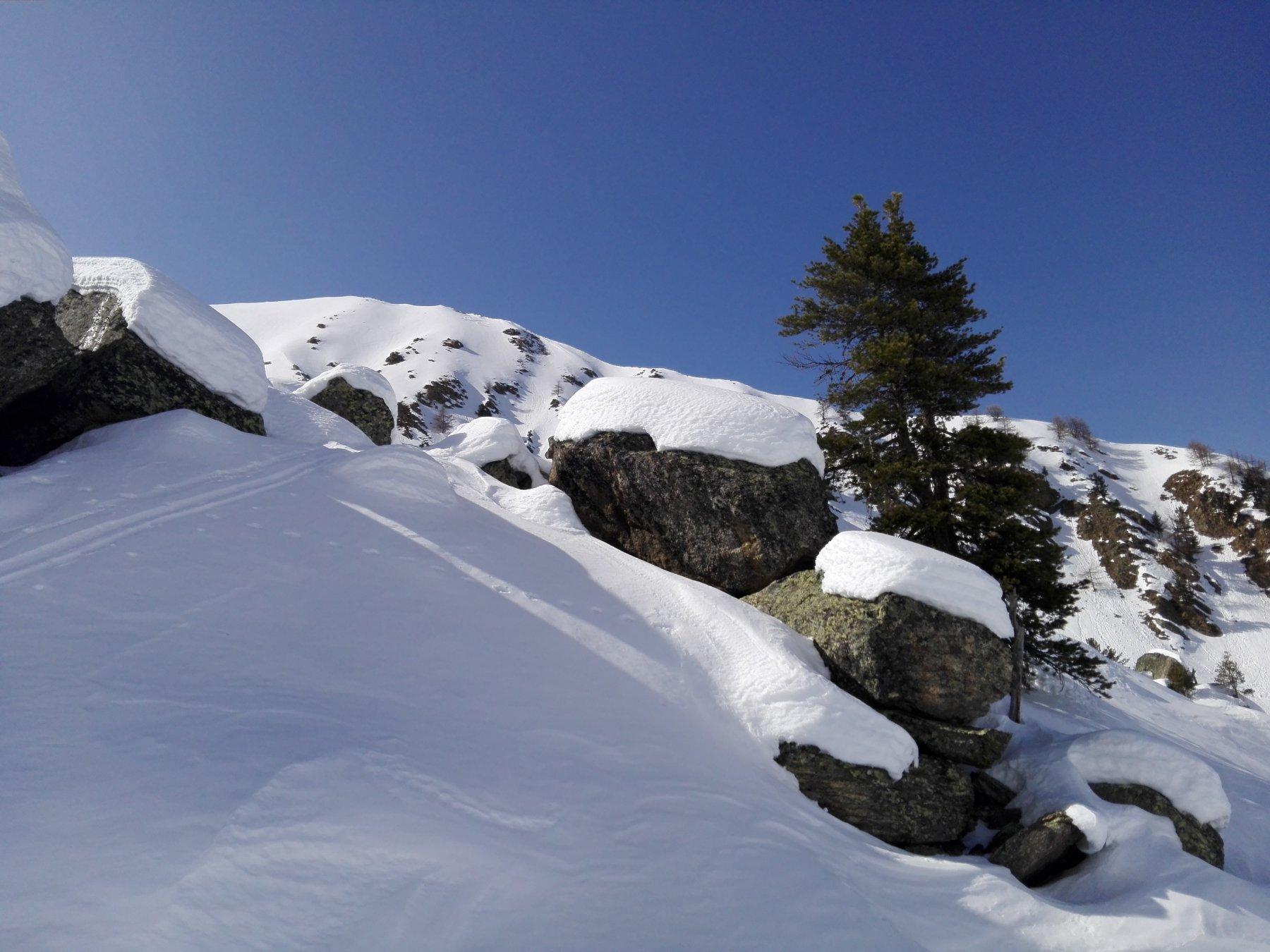 In alto c'è un sacco di neve