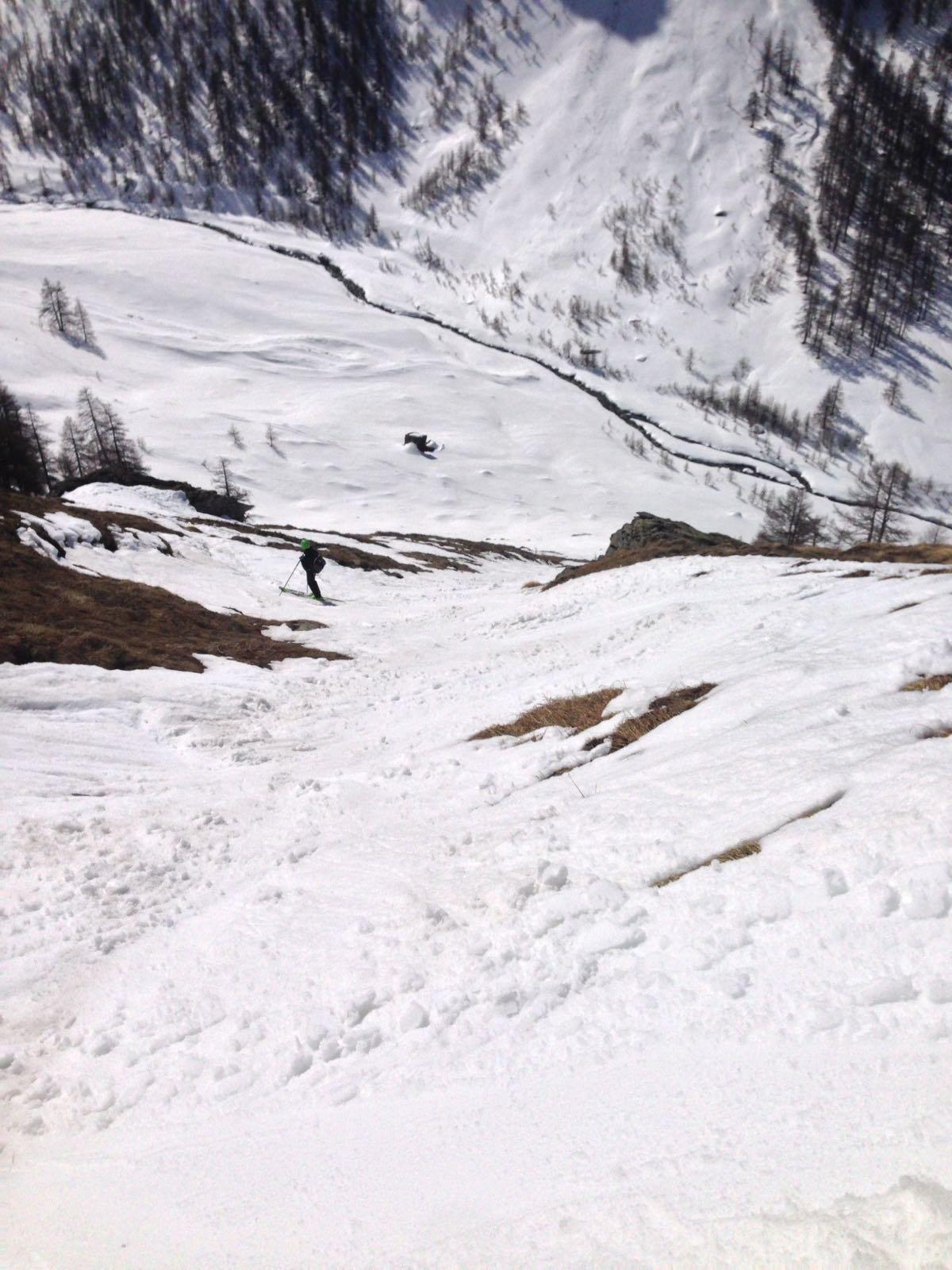 Poca neve nel tratto finale