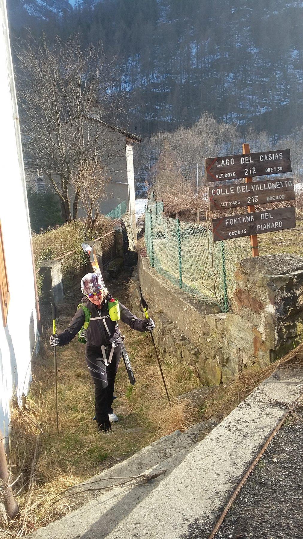 Partenza sentiero da Mondrone