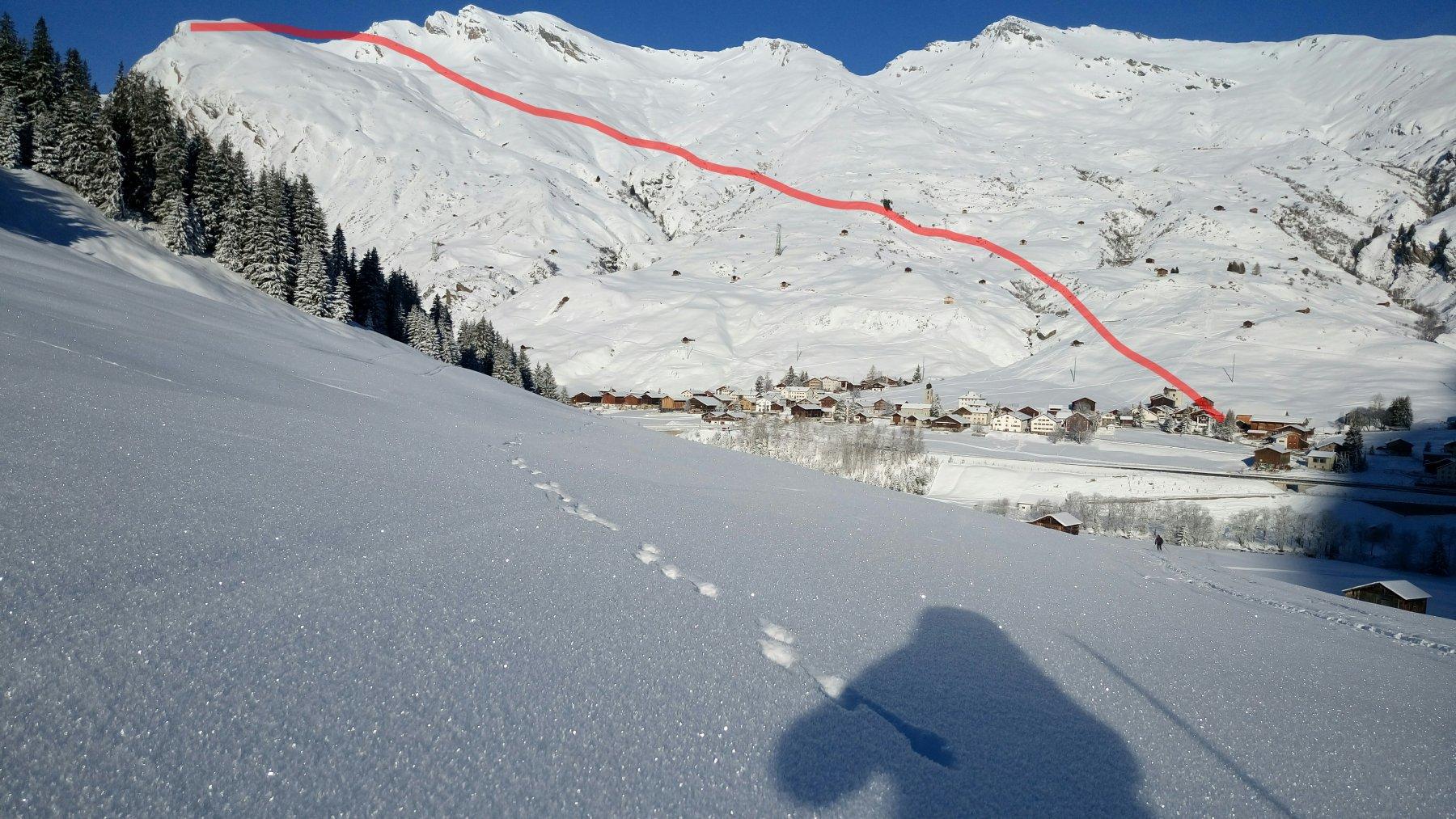 Valsehorn  visto dal versante opposto