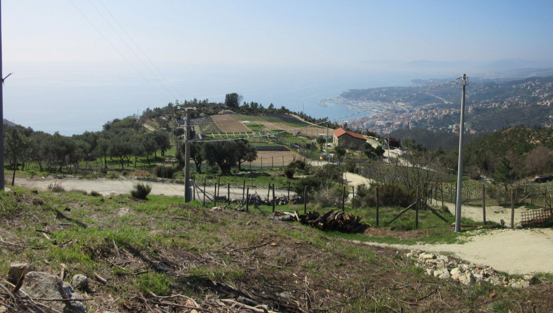 panorama salendo verso il Santuario