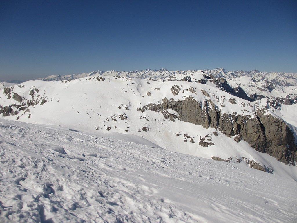 Dalla cima Saline,in primo piano il Ballaur