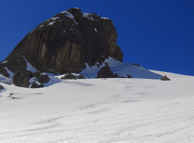 Bella neve nel vallone alto
