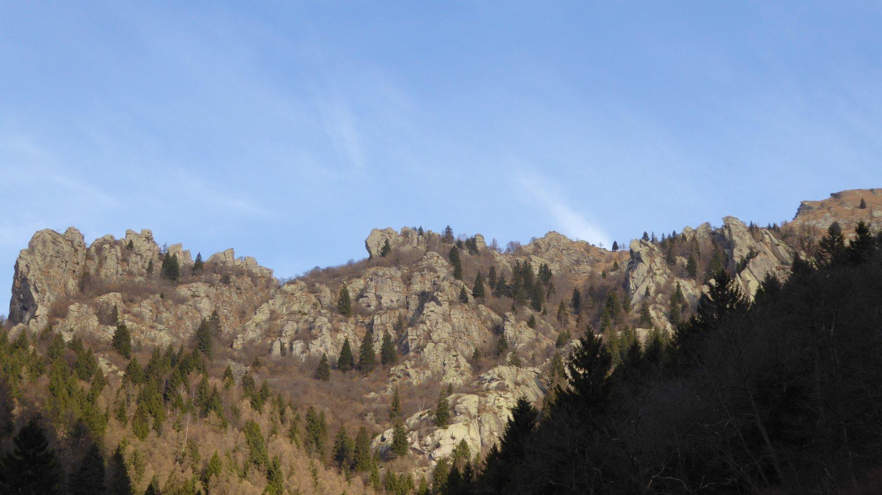 Profilo della dorsale che dal Mont Bellin, sale alla quota 2090